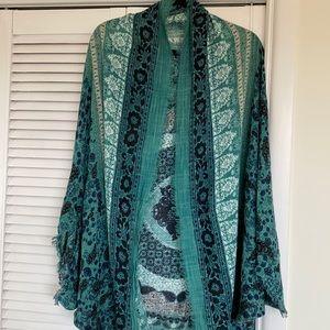American Eagle Shawl Printed Kimono